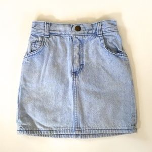 Vintage OshKosh High Waisted Light Denim Skirt 5T